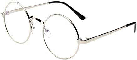 6b92fdd3f30 TANGSen Fashion Unisex Casual Classic Glasses Women Men Vintage Metal Frame  Mirror Rounded Glasses