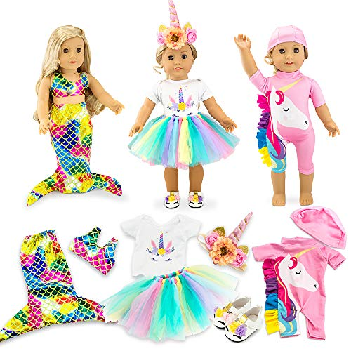 """Oct17 Doll Clothes for American Girl 18"""" inch Dolls Mermaid Outfit..."""