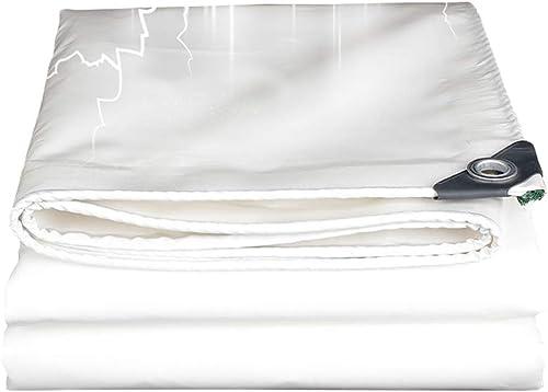 Blanc Lourd Devoir Bache Imperméable Résistant aux UV Sol Drap Couvertures pour Le Camping, Le Patio, la pêche, Jardinage, bache de Tente de randonnée, 520g   m2