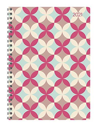 Alpha Edition - Agenda Settimanale Ladytimer Spiralata 2021, Formato Grande 15x21 cm, Retro, 128 Pagine