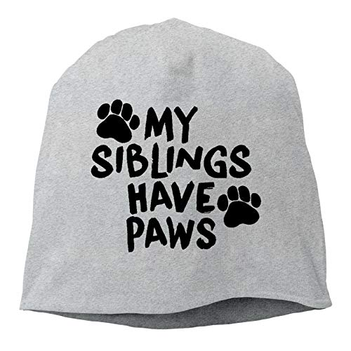 Sng9o My Siblings Have Paws - Gorros unisex de algodón suave