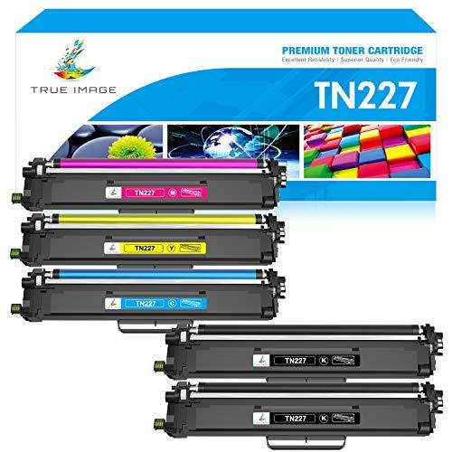 True Image Compatible Toner Cartridge Replacement for Brother TN-227 TN227 TN227bk TN223 TN-223 for HL-L3210CW HL-L3290CDW MFCL3750CDW HL-L3230CDW HL-L3270CDW MFC-L3770CDW MFC-L3710CW Toner (5-Pack)