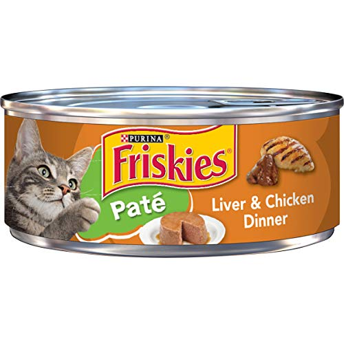 Friskies Wet Cat Food, Liver and Chicken Dinner, (24) 5.5 Oz Cans