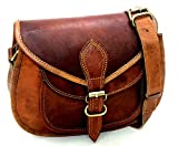 Women Leather Crossbody Shoulder Bag Satchel ladies Purse Genuine Multi Pocket Saddle Vintage Handmade Travel by Firu Handmade