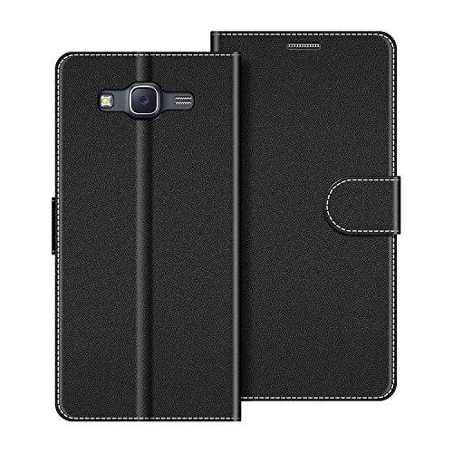 COODIO Funda Samsung Galaxy J5 2015 con Tapa, Funda Movil Samsung J5 2015, Funda Libro Galaxy J5 2015 Carcasa Magnético Funda para Samsung Galaxy J5 2015, Negro