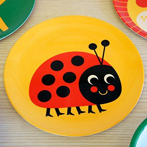 OMM-design Ingela P Arrhenius (インゲラ・アリアニウス) メラミンプレート (ladybug/てんとうむし)
