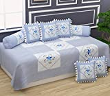 """Package Includes: 1 Bedsheet 60"""" x 90"""", 5 Cushion Covers 16"""" x 16"""",2 booster covers 18"""" x 28"""" Fabric : PureCotton Skin friendly fabric with vibrant colors Material: Cotton Quality fabric Washing Instructions: Normally Washable,dont bleach"""