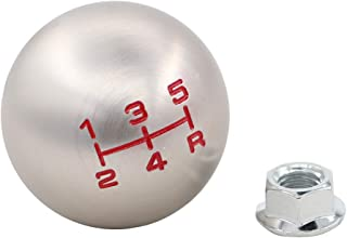 XtremeAmazing Aluminum Round Ball 5 Speed Manual Gear Stick Shift Shifter Lever Knob M10 x 1.5 Thread Screw Adapter Nuts for FD2 Type-R