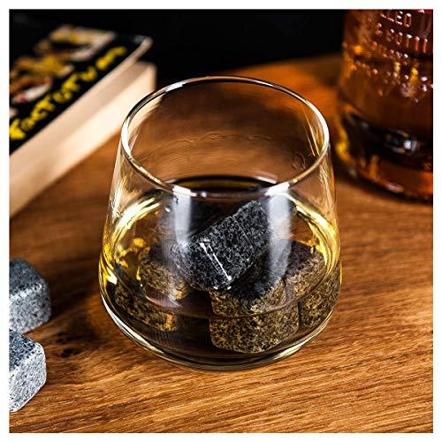 Whisky-Steine Geschenkset, 9er Set Whisky-Steine Kühlsteine aus Natürlichem Speckstein für Getränke mit Stoffbeutel Whiskey Rocks Eissteine Cooling Stones Eiswürfel, Wiederverwendbare Kühlsteine - 5