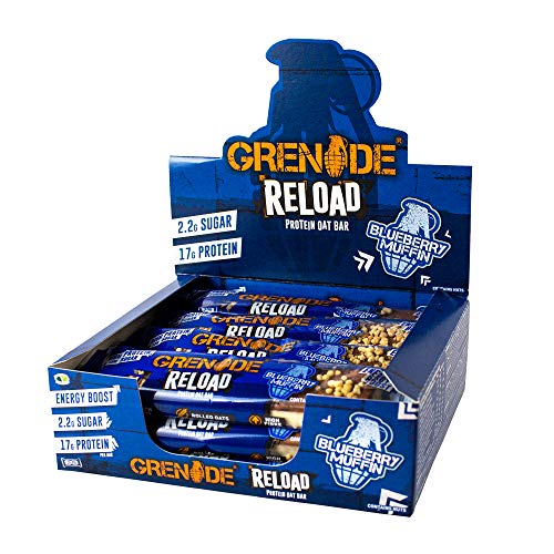 Grenade Reload Protein Oat Bar x 12 Bars - Blueberry Muffin