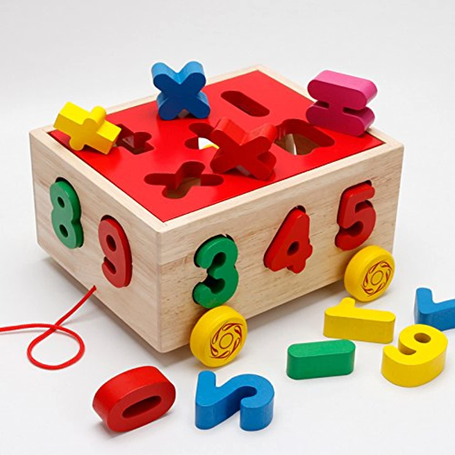 Puzzles  Baby Block Match Learning Educational Wood Toy 15 Holes Geometry   Digital Shape Intelligence Box Trailer Early Learn Cube Game  by ptk12  1 PCs