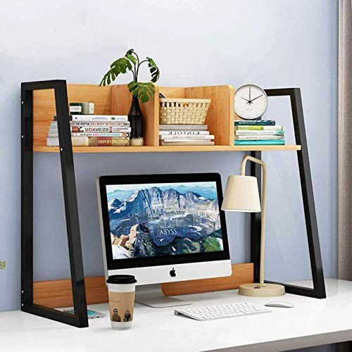 HZYDD Desktop Bookshelf Storage Rack Simple Single Layer Three Bookcase Black Bookshelf Album Display Rack