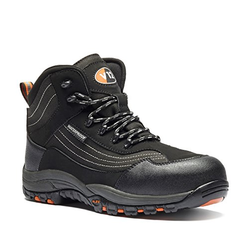 V12 V1501/04 Caiman Safety boot, UK size 4, Black/graphite