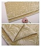 FFJD Telas Costura- Pantalla Bonita Patrón De Impresión Velvet Velvet Velador Tela De Cojín Artesanal 150 Cm 59 '' Amplio Washabl(Color:Amarillo Claro)