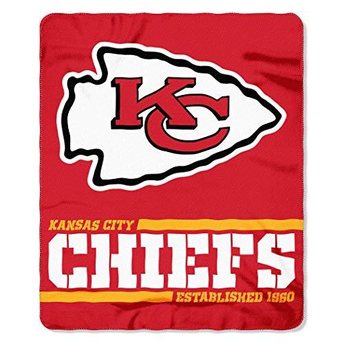 Northwest NFL Kansas City Chiefs 50x60 Fleece Split Wide DesignBlanket, Team Colors, One Size