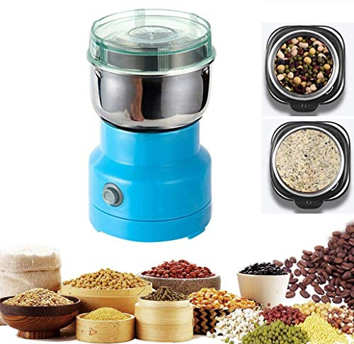 NIONE Multifunction Smash Machine,150W Small Food Grinder Grain Grinder,Stainless Coffee Grinder Electric Bean Seasonings Electric Milling Machine Burr Grinder