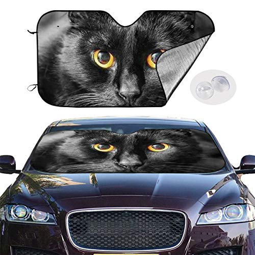 Parasol del Coche Parabrisas Delantero del Gato Asiático Parasol del Sol para El SUV del Camión del Coche Mantenga Su Vehículo Fresco 51x27.5 Pulgadas