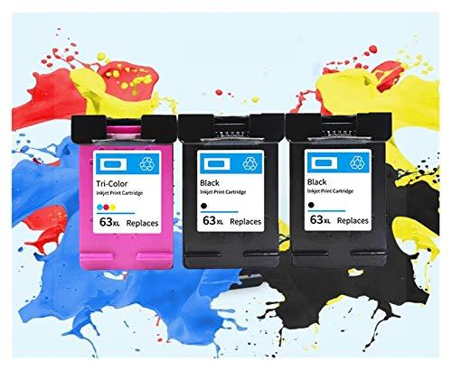 LIUYB 63 63XL Cartuchos de Tinta compatibles for HP 63 XL Deskjet Impresora 1110 1112 2130 2131 2132 2133 2134 3630 (Color : 2 BK and 1 C)