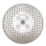 DT-DIATOOL Disco Diamante de Corte y Rectificado 115 mm x M14 Electrochapado de Doble Cara para Piedra Mármol Baldosa Granito