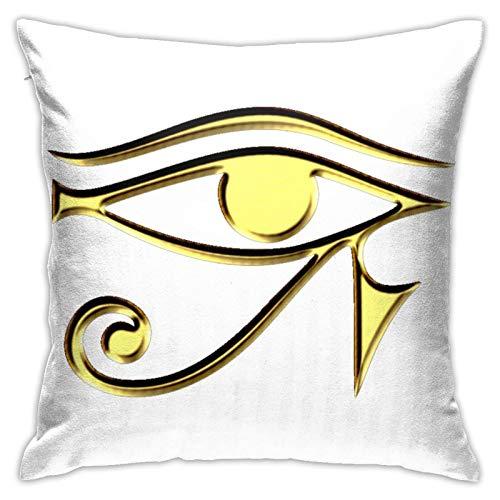 jhgfd7523 Throw Pillow Cover Egyptian Ibis Ankh Horus Eye Decorative Pillow Case Home Decor Square 18x18 Inches Pillowcase