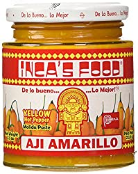 Jar of Inca''s Food brand aji amarillo paste which I recommend buying on Amazon.
