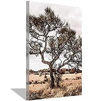 オーストラリアのアウトバック風景ウォールアートプリント砂漠の木の写真ウォールアートプリント自由奔放に生きる装飾大きな印刷可能なポスター