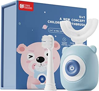 Kids Electric Toothbrush,Whole Mouth Baby Toothbrush,360 Ultrasonic Autobrush Toothbrush Kids, Age 2-12 Blue