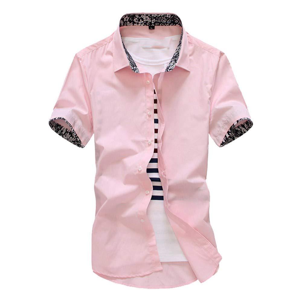 NSSY Camisa de Hombre Manga Corta de Verano Floral para Hombre Camisas de Vestir más el tamaño Slim Fit Camisa de los Hombres, XL: Amazon.es: Hogar