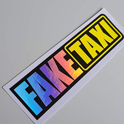 folien-zentrum Fake Taxi Hologramm Oilslick Rainbow Flip Flop Schwarz Aufkleber Metallic Effekt Shocker Hand Auto JDM Tuning OEM Dub Decal Stickerbomb Bombing Sticker Illest Dapper Fun Oldschool
