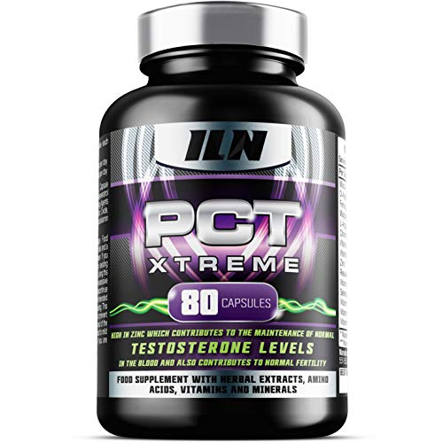 PCT Xtreme - 80 Capsules | Post Cycle Support supplement, with DAA, Resveratrol & Zinc which contributes to Normal Testosterone Levels | Exclusively made in the UK