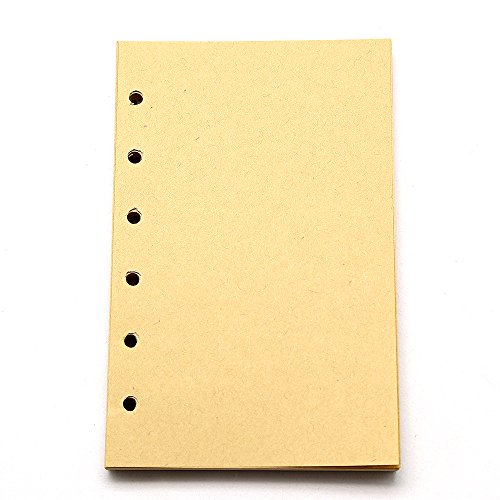 Refillable Vintage Diary Notebook Craft Blank Paper For EvZ 5 Inches Nautical or Leaf Journals