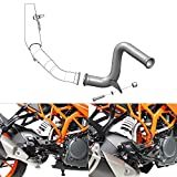 NICECNC Aftermarket Motorcycle Stainless Steel Exhaust Muffler Mid Pipe Replace DUK- 125/3...