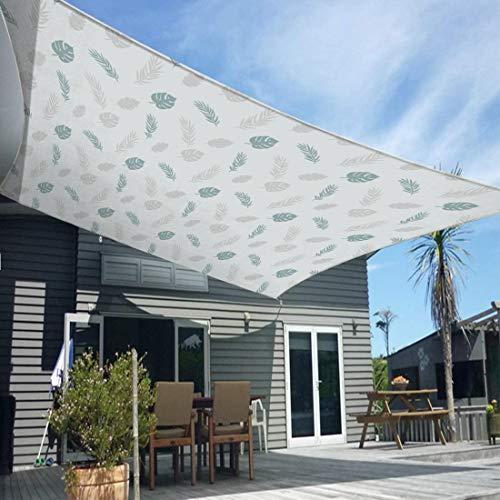 BBYOUTH Toldo Vela Protección Solar Impermeable Bloque UV Rectángulo/Toldo Cuadrado Varios Tamaños para Terraza al Aire Libre Jardín, Incluyendo Cuerda,2 x 2m