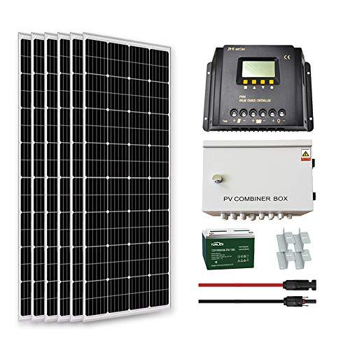 Goosun 1000 Watt Solar System Solar Panel Kit Off Grid 6PCS...