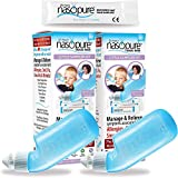 Dr. Hana's Nasopure Nasal Wash   Combo Two Little Sampler Kit   The Nicer Neti Pot - Nasal Symptoms of Allergies, Cold, Flu, & Sinusitis - Fast All Natural Relief - Nasal Spray/Nasal Hygiene/Lavage