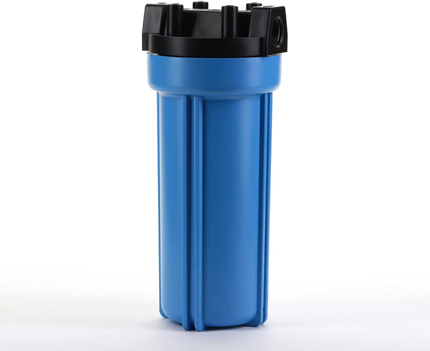 Hydronix HX-HF5-10BLBK34 Water Filter 10  Nsf Listed RO, Whole House, Hydroponics-3 4  Ports, bluee Body, bluee Black