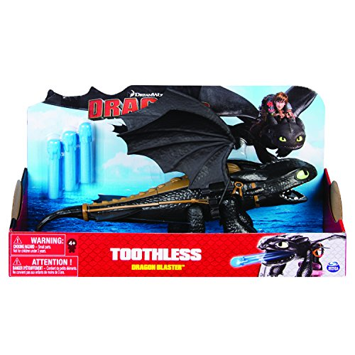 Dreamworks Dragons 6044144 - Main Line, Dragon Blaster, Toothless (Solid), Action Figur, Dragons, Drachenzähmen leicht gemacht, Ohnezahn