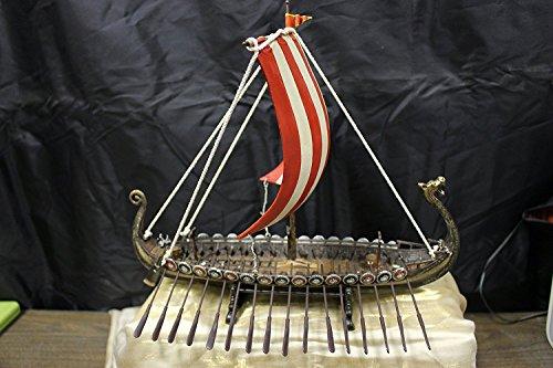 Drekar Wikingerschiff Modell Drachenkopf Figur 11,5 Zoll