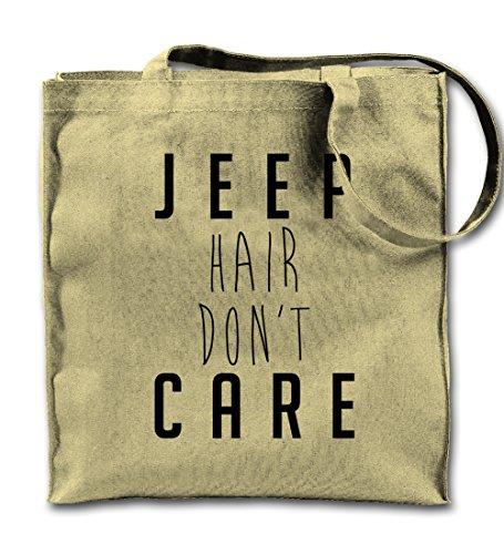 Teequote Jeep Hair Don't Care Natürliche Leinwand Tote Tragetasche, Tuch Einkaufen Umhängetasche