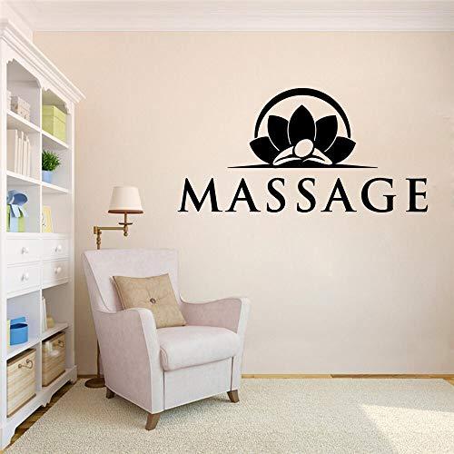 AQjept Excelente Masaje Yoga Vinilo SPA Pegatinas de Pared calcomanías de Arte Pegatinas de Pared para Sala de SPA para decoración de Sala de yoga42x84cm