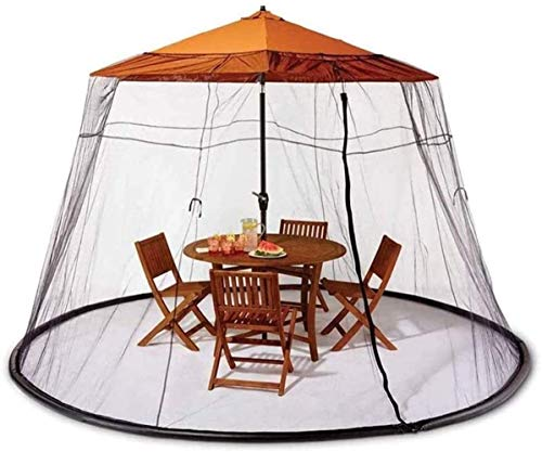 LYYJIAJU Outdoor Mosquito Net Tent Garden Table Screen Parasol Mosquito Net Cover Netting for Indoor and Outdoor, Camping