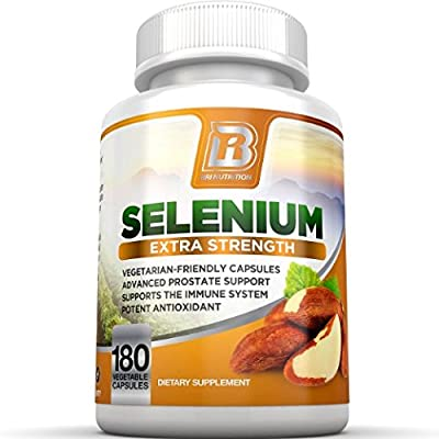 BRI Nutrition Selenium 180ct 200mcg Vegetable Formula - Essential Trace Mineral to Support Thyroid, Prostate and Heart Health* - Yeast Free - Made in the USA from BRI Nutrition