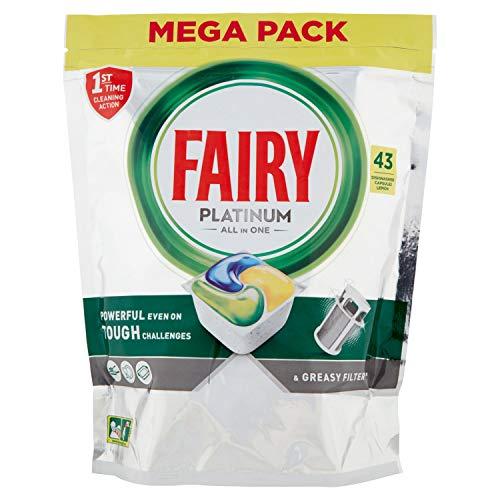 Fairy Platinum - Detergente para cápsulas todo en uno, para lavavajillas, 43...