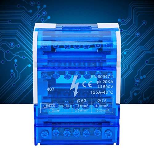 407 Caja de distribución de terminales, carril DIN, caja de conexiones monofásica...