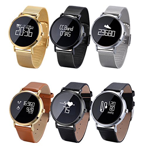 Freitop Fitness Armbanduhr mit Herzfrequenz Blutdruck Pulsmesser Damen Herren CV08 Wasserdicht IP67 Smart Pulsuhr Fitness Tracker Anruf SMS Vibration Kompatibel mit Android ios Apple iPhone Bluetooth