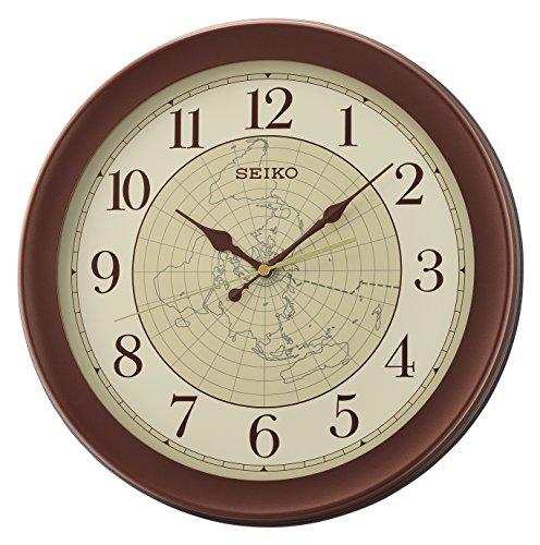 Seiko QXA709B - Orologio da parete in plastica, colore: Marrone