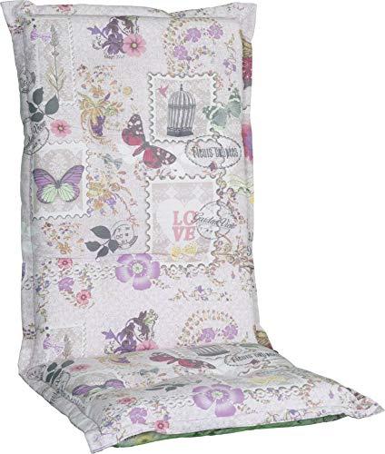 Beo HL Nizza BE744 - Cojín para Muebles de jardín con Respaldo Alto, Color Blanco