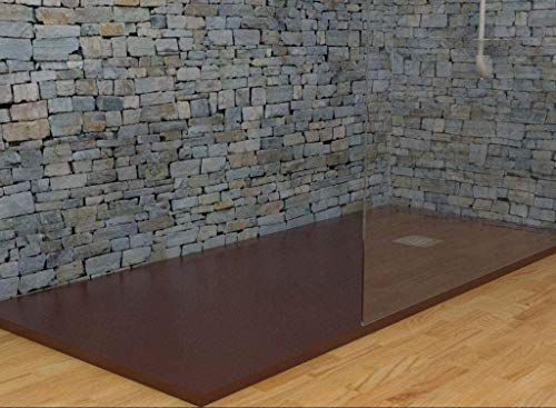 MASAL TECH DESING - Plato de ducha MARRONCHOCOLATE 75x170 cm, antideslizante y de fácil colocación.