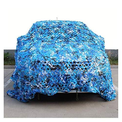 Qjifangztype Markies camouflagennet zonneweringnet Oxford-stof zonweringnet tentdoek doek geschikt voor militaire jacht fotografie sea blue