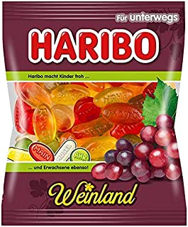 4x Haribo WEINLAND each Bag 200g (German Import)